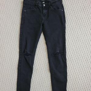 JustBlackDenim Knee Slit Skinny Jeans